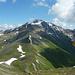 Vom Gipfel des Piz Arina, Blick auf S-Grat, der zum Piz Nair und weiter zum Muttler führt.