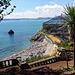 Retourblick zur Voliere. Palmen gibt es an der englischen Riviera noch und noch.