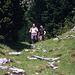 Jörg und Martin beim Abstieg vom Schlern durch die Bärenfalle.