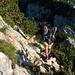 Der Mannlgrat beginnt mit gemütlicher Kraxelei durch Latschen und griffige Felspartieen,