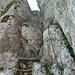 Immer wieder Genußkletterei an festem, griffigem Fels - bestens abgesichert.