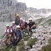 Gruppenbild vor dem Rif. Pisciadù
