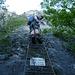 Der Klettersteig beginnt