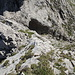 Der (nord- oder südseitige) Abstieg vom Grat zurück ins Gämsiloch ist nicht ganz trivial.