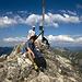 Am Gipfel des Rauhhorns machen wir eine Pause.