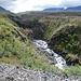 Blick hinunter ins Canyon des Nissunjåkka