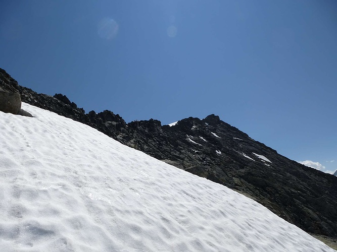 Hohe Fürleg kommt immer näher; durch den steilen Schnee  -> Nähmaschine Unterfaden Kommt Nicht Hoch