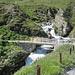 die Brücke über den Klostertaler Bach; wenig später dann der Abzweig nach rechts ins Klostertal