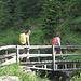 Sul ponte di quota 1679 metri.