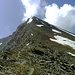 Nach dem etwas chaotischen Felsriegel ... die Gipfel steilt auf.<br />Aber der deutliche Steig: 1. Klasse