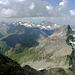 Immer ein Hingucker: die Stammerspitze (jetzt doch deutliche kleiner) samt Silvretta im Hintergrund.
