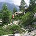 Sul sentiero che porta all'Alpe di Sceru