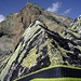 Viele Schlingensicherungen möglich, den Gipfel im Blick