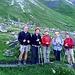 "Gli altri ""Camosci"" verso capanna Terri. Da sn. Giuseppe, Nadia, Giuliana, Mirella e M.Rosa."