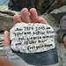 Diesen Stein hab ich am Gipfel zurückgelassen. Besuch vom andren Hohen Riffler...