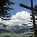 Gipfelkreuz am Waldrand bei der Weissen Wand