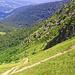 Abstieg am Col de Falimont