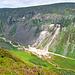 Blick auf die ehmaligen Bergbauaktivitäten im Glendalough Nationalpark.