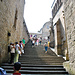 Aufgang zu der Terrasse, dem höchsten begehbaren Punkt des Mont St. Michel.