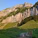 Panorama Wiggisboden. Links der Vorder Glärnisch und das Vreneli.