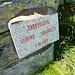 Tafel auf der Forcarella di Lodrino - höchster Punkt des anfangs Juni durchgeführte Skyrace von Lodrino nach Lavertezzo