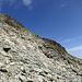 Aufstieg und Abstieg in der Geröllhalde Richtung Piz da la Funtauna