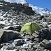 Mein Biwakplatz in der Nähe der Tête Rousse - Hütte ( 3167m )