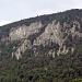 von links nach rechts laufend - der Eulengrat - wer sucht der findet auch tatsächlich ein Eulengesicht..Links durch die Waldschneise geht der Abstieg durch.