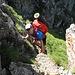Hier gibt es einige leichte Kletterstellen