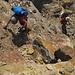 Ultimi metri di arrampicata sul torrione del Piz Piotta