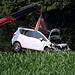Grund der Umleitung, Bergung eines Unfallautos