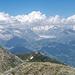 In Richtung Glishorn zeigt sich der Grosse Aletschgletscher