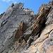 und doch ist Konzentration in der steilen Felsflanke angesagt