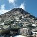 Etwas zermürbend: die letzten 50m hinauf zum Gipfel der Vorderen Grinbergspitze.