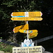 an der Bergstation Ämpächli: für die erste Etappe zum Chüeboden entweder links- oder rechtsherum; Zeitbedarf identisch