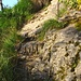 Wegstück im Abstieg nach Sta. Maria