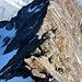 Die einzige plattige Stelle im Aufstieg zum Hohbärghorn, welche den zweiten Grad übersteigt