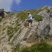 Und noch ein kleines Klettersteiglein (im Aufstieg für Rechtshänder)
