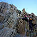 Interessante Schichtung im Aufstieg zum Stecknadelhorn<br />Foto CJ