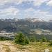 Der Blick vom Muottas da Schlarigna zu den Bergen des nördlichen Oberengadin