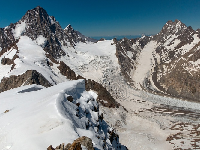 Blick vom Oberaarhorn