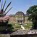 Der klassische Blick von der Mauer zum Kaisersaal im östlichen Trakt der Residenz