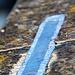 Die Mauerbrüstungen sind nicht mit Mörtel verbunden, sondern trocken aneinandergesetzt,<br />verbunden nur mit Eisenankern (dunkelblau); die Fugen sind mit Blei (hellblau) gefüllt<br />© Nadine