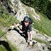 Start im Klettersteig (Route A)