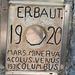 Geheimnisvolle Inschrift der Erbauer.