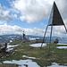 Gipfel Dent de Vaulion, im Hintergrund Mont Tendre