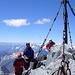 Reinhold und Sabine am Gipfel.