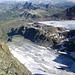 Tiefblick auf Verstancla- und Silvrettagletscher