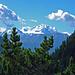 Mischabelgruppe mit den höchsten ganz in der Schweiz liegenden Bergen, ganz rechts am Bildrand guckt auch die noch die Dufourspitze     die Dufourspitze