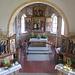 Chiesa di Zell, i tre altari dalla balconata dell'organo.